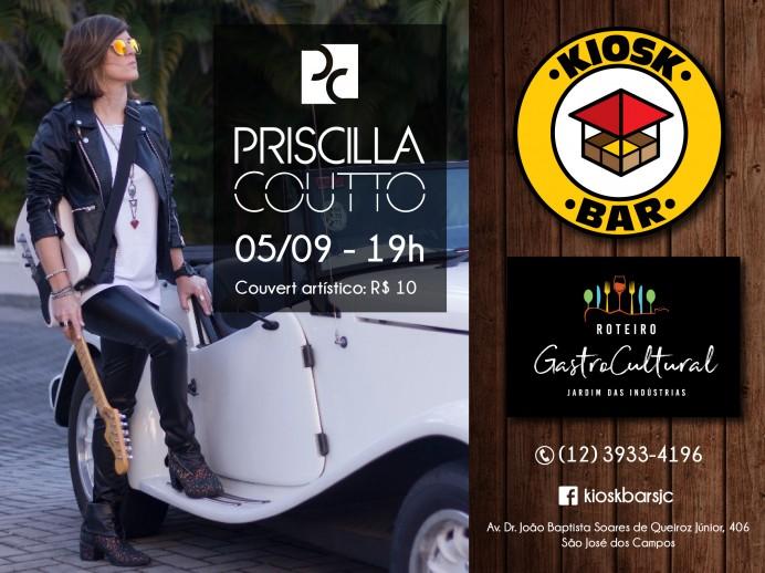 Semana Gastronômica com show de Priscilla Coutto no Kiosk Bar