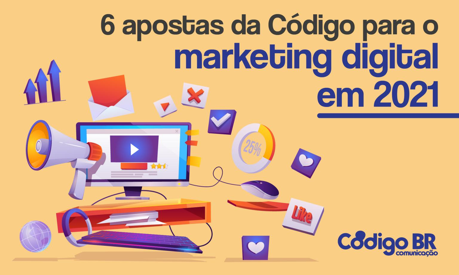 Apostas da Codigo para marketing digital para 2021